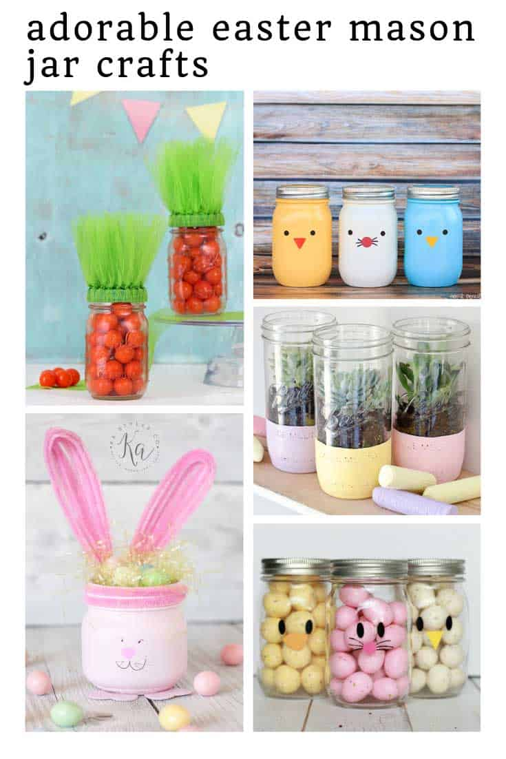 So many cute Easter mason jar crafts to make this weekend!