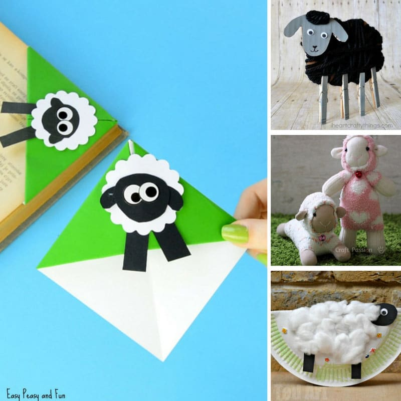 Easter Sheep Crafts for Kids