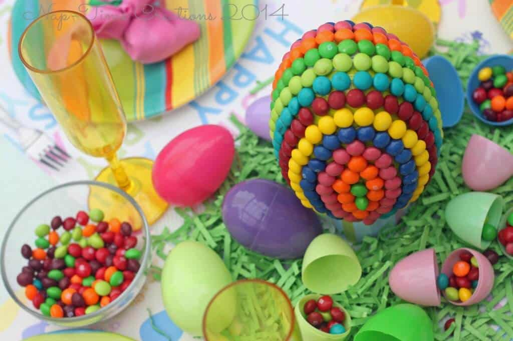 Easter Table Candy Centerpiece
