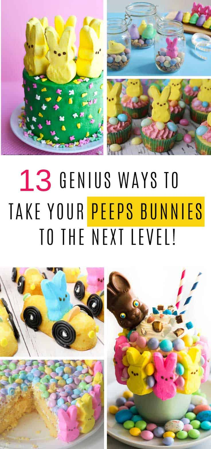 I'm pretty sure it goes against the rules to have an Easter basket without a PEEP or two inside. But this year why not take those PEEPS bunnies to the next level by turning them into a fabulously cute Easter dessert (or three!)