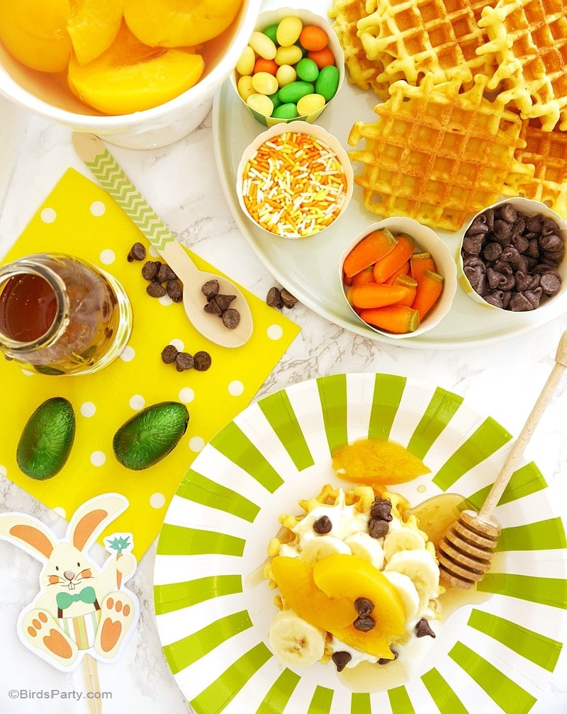 Easter Waffle Station Ideas