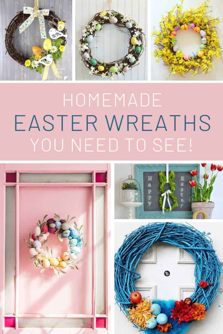 These Easter wreaths are so beautiful!