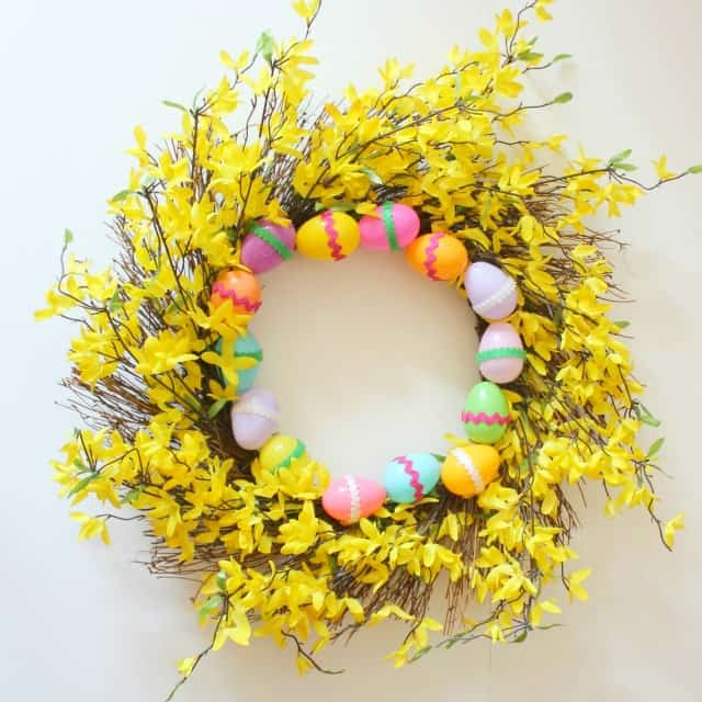 Last Minute Easter Wreath