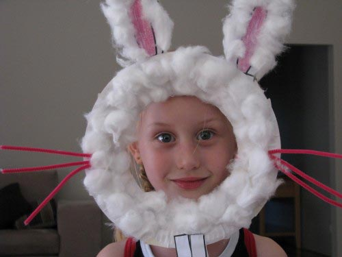 Paper Plate Easter Bunny Mask - Learning 4 Kids