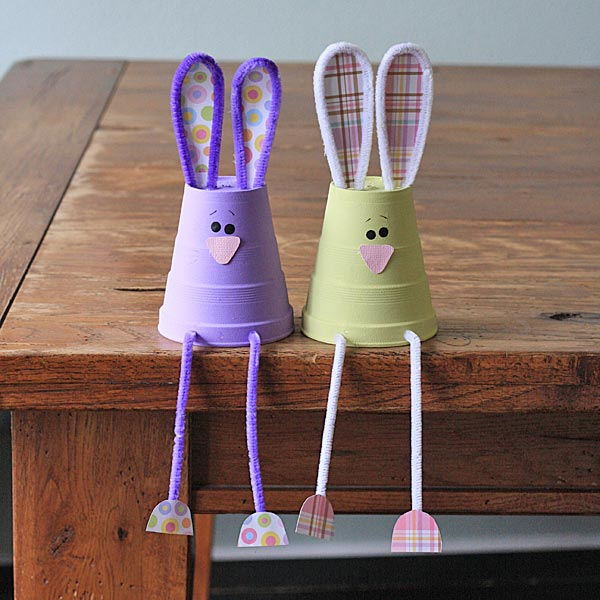 Foam Cup Bunnies - Crafts by Amanda