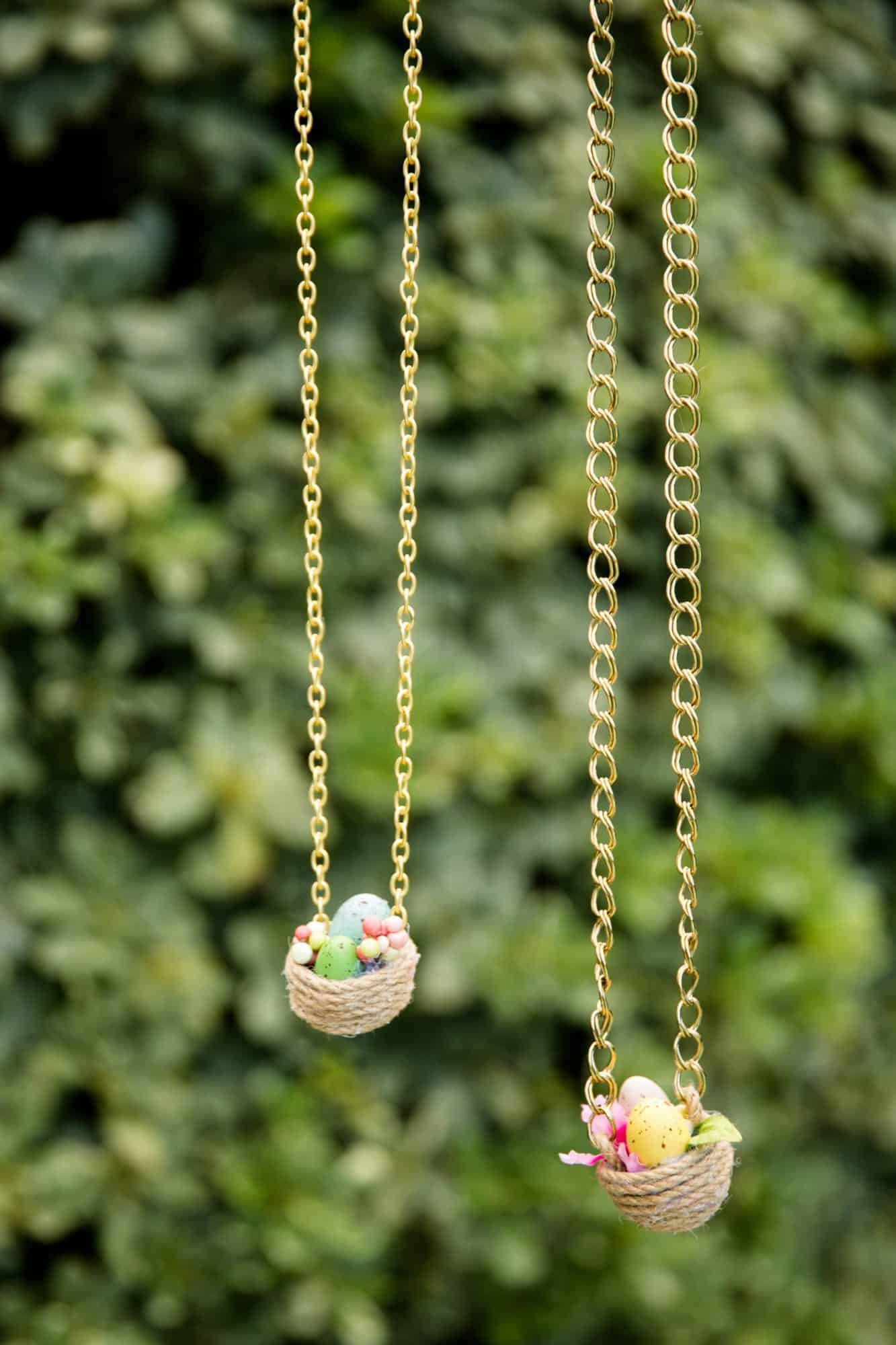 Easter Egg Nest Necklaces
