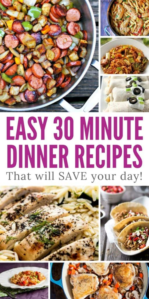 Loving these 30 minute dinner recipes - I just about have time to cook them!