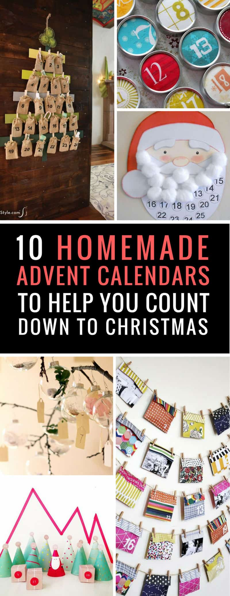 Looking for easy advent calendars to make at home? These DIY calendars are simple to make and can be used over and over for years to come! | DIY advent calendar | Christmas crafts | Just Bright Ideas