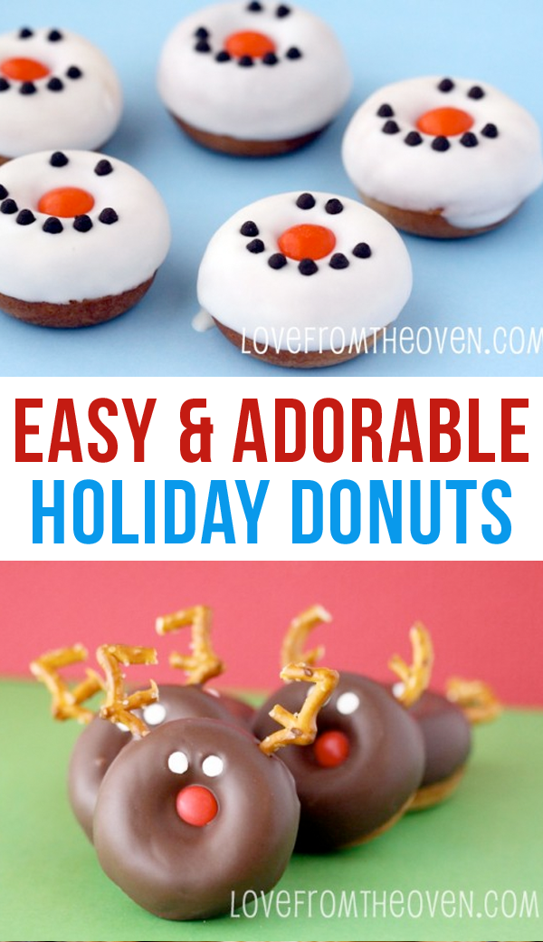 "Adorable Holiday Donuts</a> – I'm not sure which I LOVE most – the snowmen or the Rudolph donuts! But these are definitely a good reason to ask for a Donut Maker for Christmas and open it before breakfast!""></p> <p style="