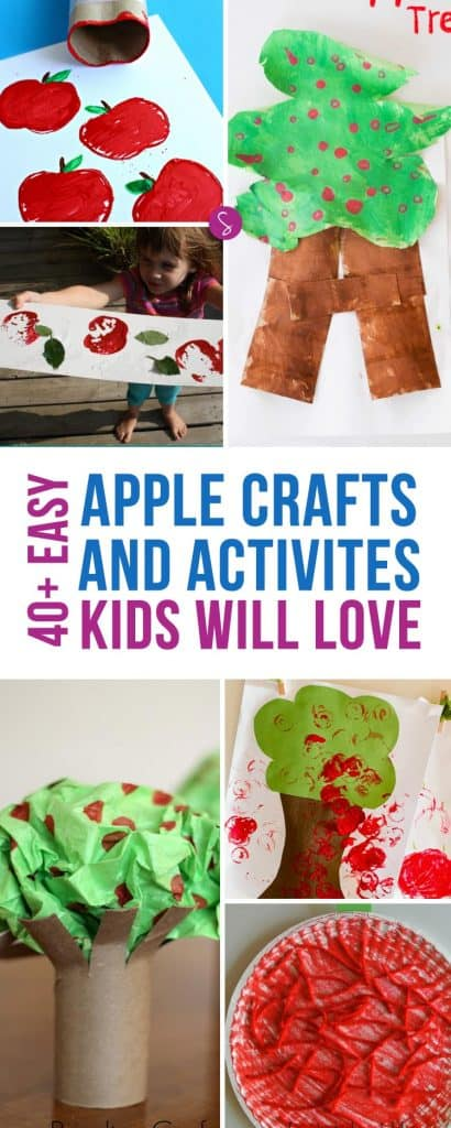 Have fun with apple stamping using apples and toilet rolls!