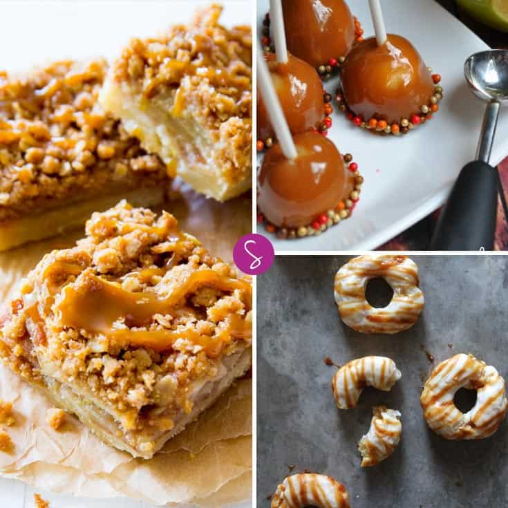 Apple donuts, mini caramel apples and salted caramel apple pie bars - oh my!