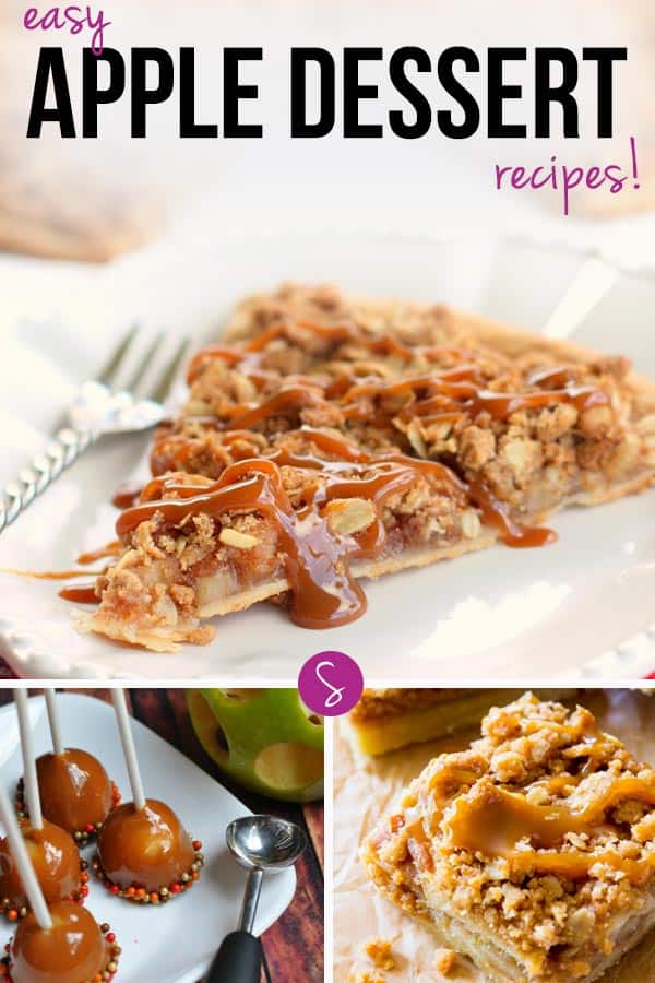 So many easy apple dessert recipes for kids that are perfect for Fall.