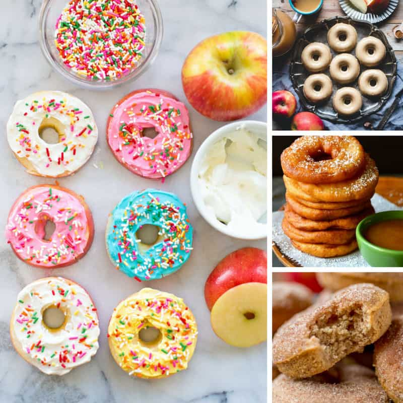 oh my goodness these apple donut recipes look amazing! I can't believe how easy they are to make!