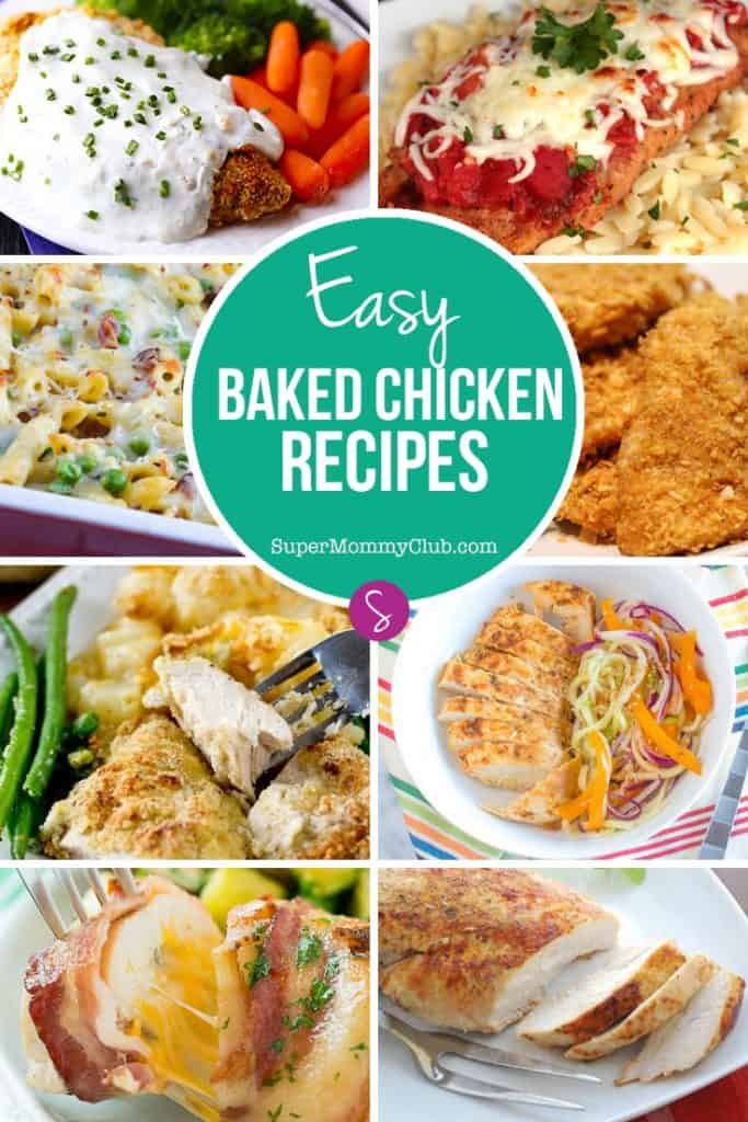 These easy baked chicken recipes are perfect for kids and make great quick and easy dinners for when you're too busy to spend hours in the kitchen!