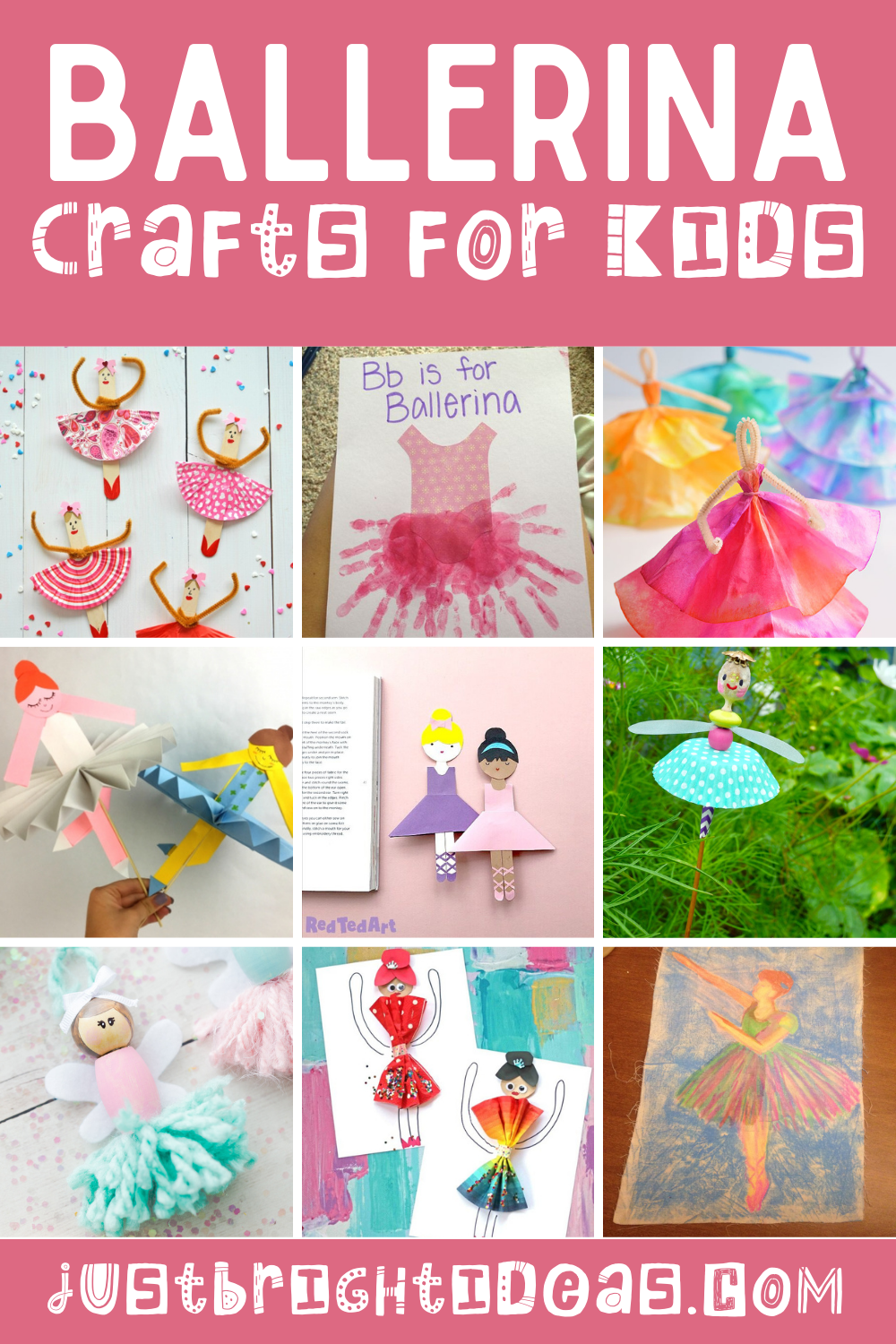 Loving these easy ballerina crafts for kids of all ages. Some are Edgar Degas inspired - others are perfect for your preschoolers!
