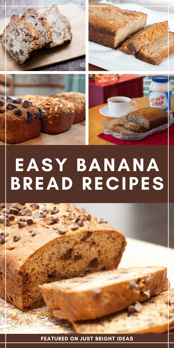 Simple banana bread recipes that taste great!
