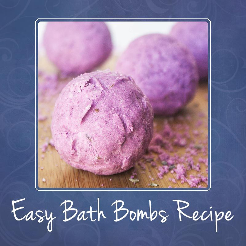 Easy Bath Bombs Recipe - Lavender, Lemon and Peppermint
