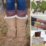These easy boot cuff crochet patterns are just what you need to makeover your boots this winter!