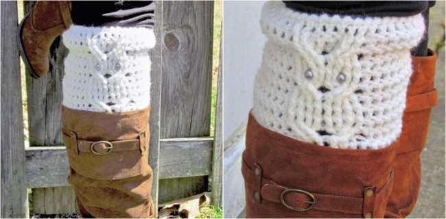 Easy Boot Cuff Crochet Pattern