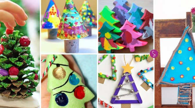 SUPER CUTE Christmas Tree Crafts for Kids to Make!