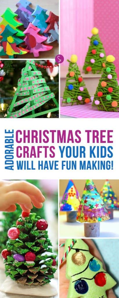These Christmas Tree crafts for kids are ADORABLE! We're going to make them this weekend! Thanks for pinning!
