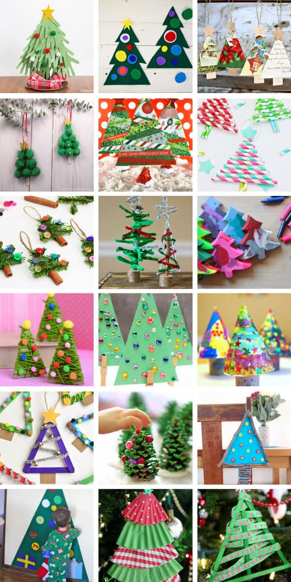 So many easy Christmas tree crafts for kids to have fun making this Holiday season! #christmas #christmascrafts #crafts #kids
