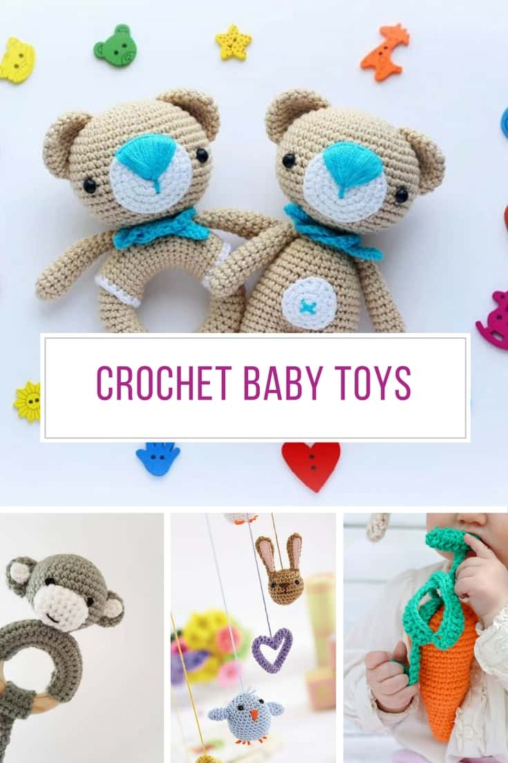 Beginner Crochet Patterns For Baby Toys : 27 Crochet Baby Toys that Make Wonderful Baby Shower Gifts ...