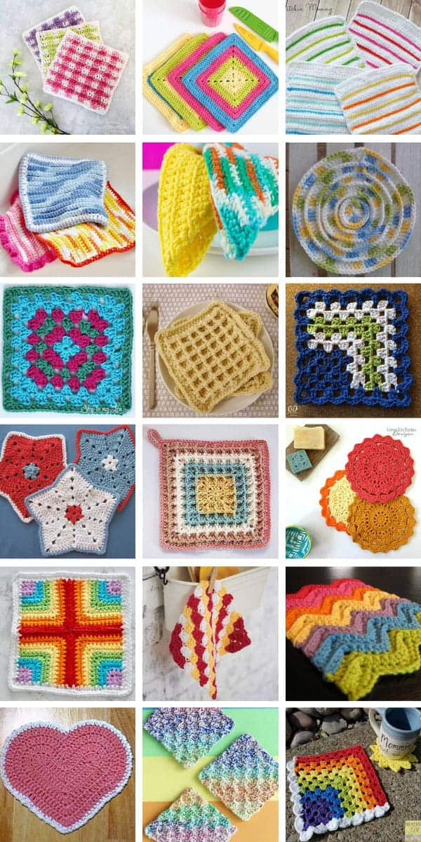 These easy crochet dishcloth patterns make fabulous Christmas gifts for friends and family - they're quick and easy to make too! #crochet #dishcloth #christmas
