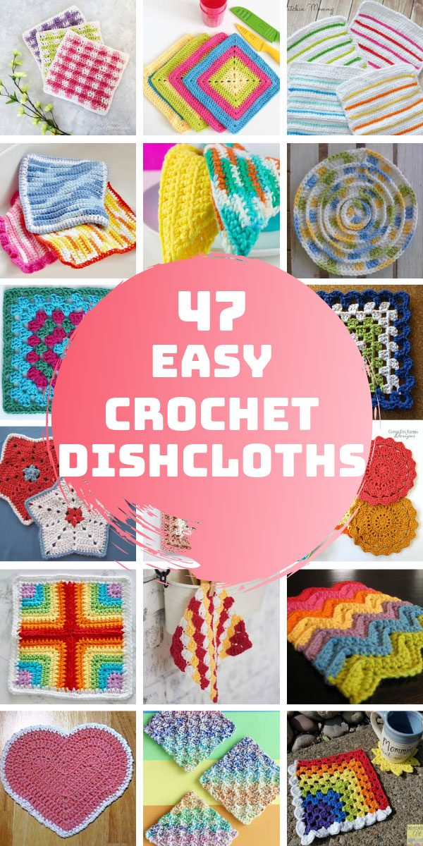 These easy crochet dishcloth pattern projects are perfect for beginners