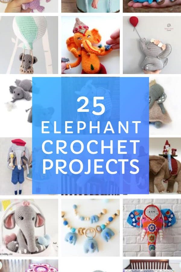 These easy crochet elephant projects make great gifts for baby showers and Christmas! #crochet #elephant