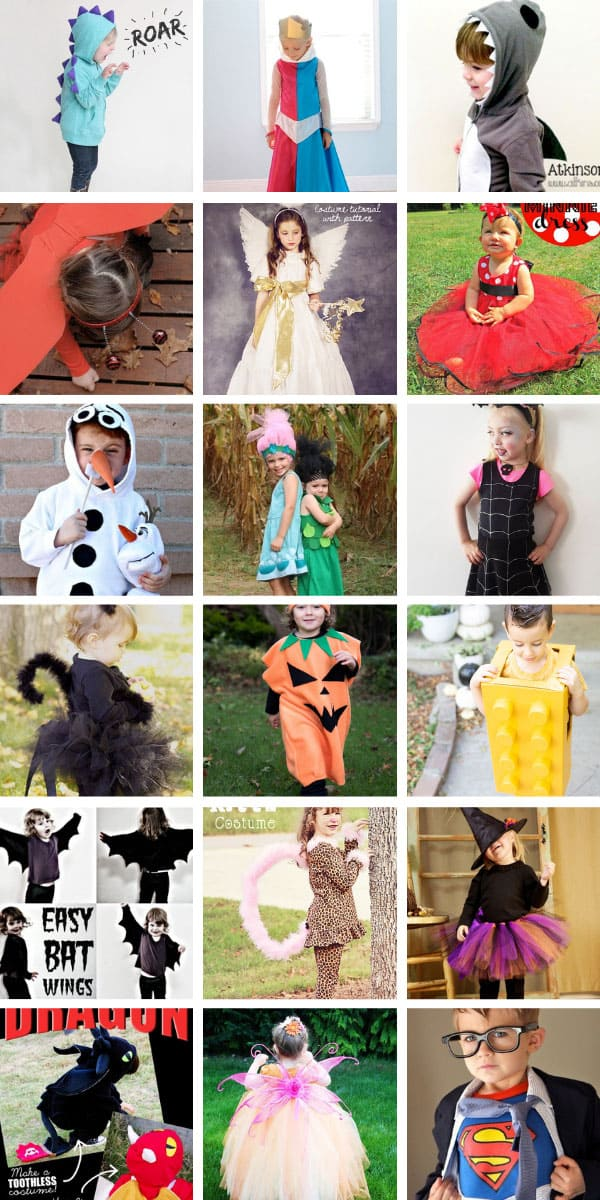 These easy DIY Halloween costumes for children are so cute and many of them are no sew! #Halloween #HAlloweencostumes