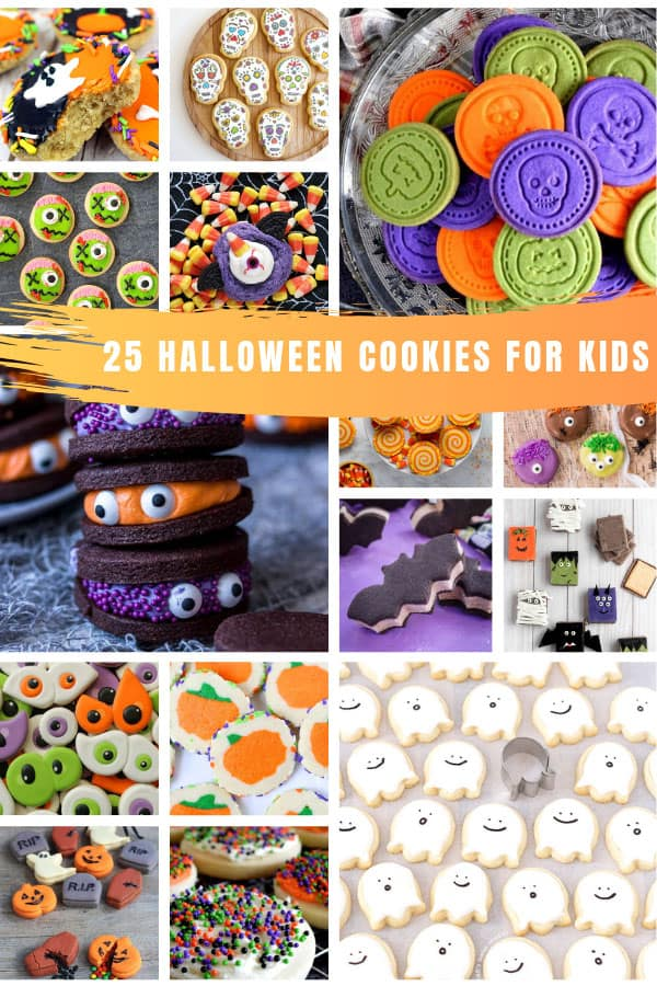 Loving these easy decorated Halloween cookies for kids - so much fun and perfect for parties and trick or treaters! #halloween #halloweencookies
