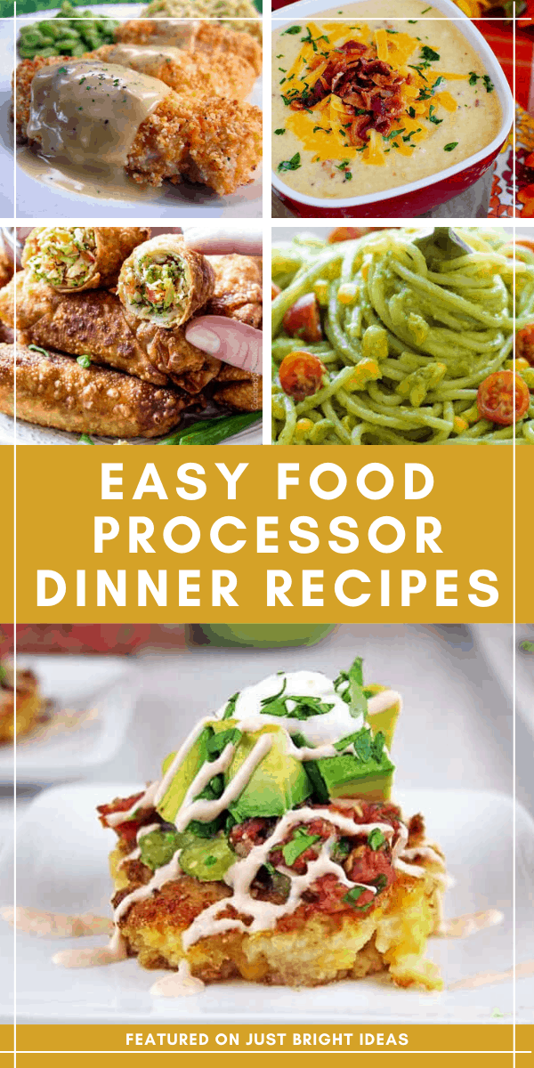 These food processor dinners are so easy to make and they taste great too!