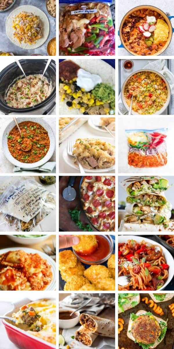 Wow! So many easy freezer meals for new moms to make ahead before the baby comes!