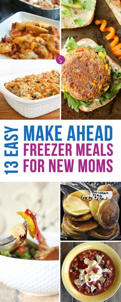 These freezer meals for new moms make the perfect gift, because what mom has time to cook when there's a newborn in the house?