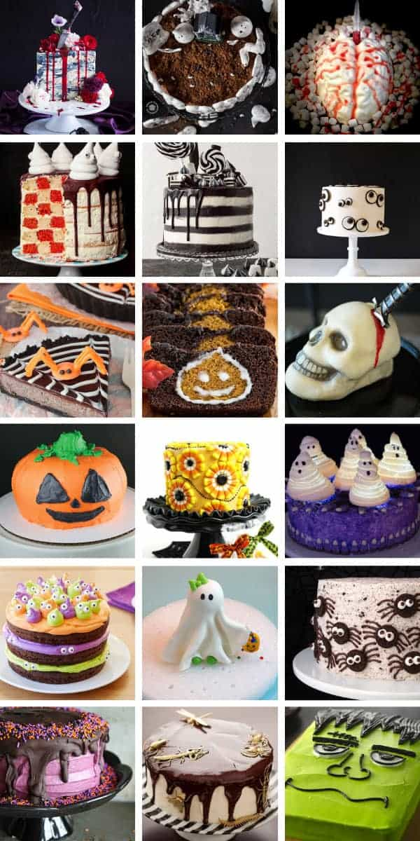 These easy Halloween cake ideas will be the talk of your party! They're awesome fun and spooky too! #halloween #cakes