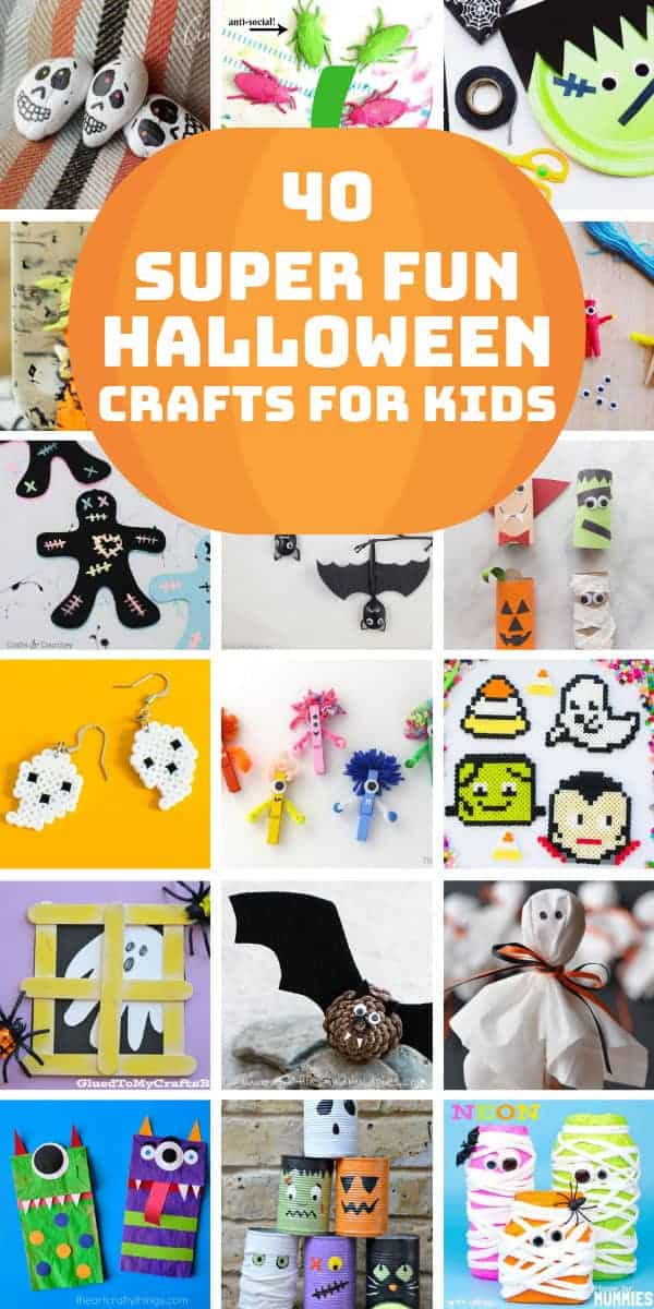 Loving these easy Halloween crafts for kids to make this year! Perfect for October fun for all ages! #halloween #kidscrafts