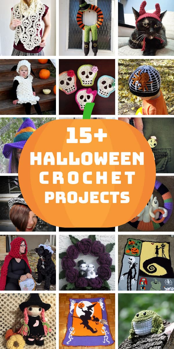 Loving these easy Halloween crochet projects - from hats and toys to wreaths and blankets there's something for everyone! #halloween #crochet