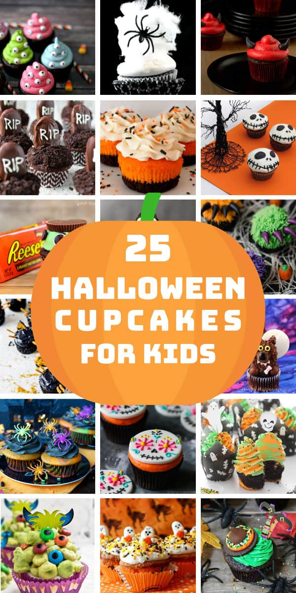 Yum! So many easy cupcakes for kids - decorating ideas that everyone will love! #halloween #cupcakes