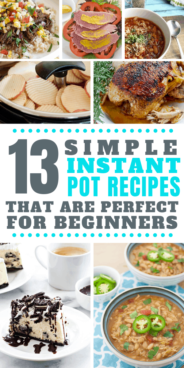 These easy instant pot recipes are just what i need to figure out how to use my new pressure cooker!