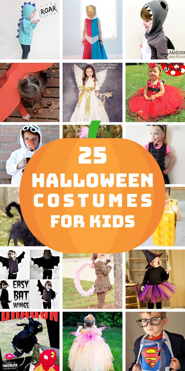 These last minute DIY Halloween costumes for kids are so easy to make and many are no sew ideas! #Halloween #kids #DIY #Crafts #costumes