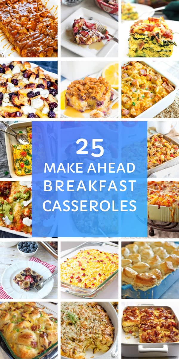 Yum! These easy make ahead breakfast casseroles are perfect for feeding a crowd! #breakfast #food #recipe