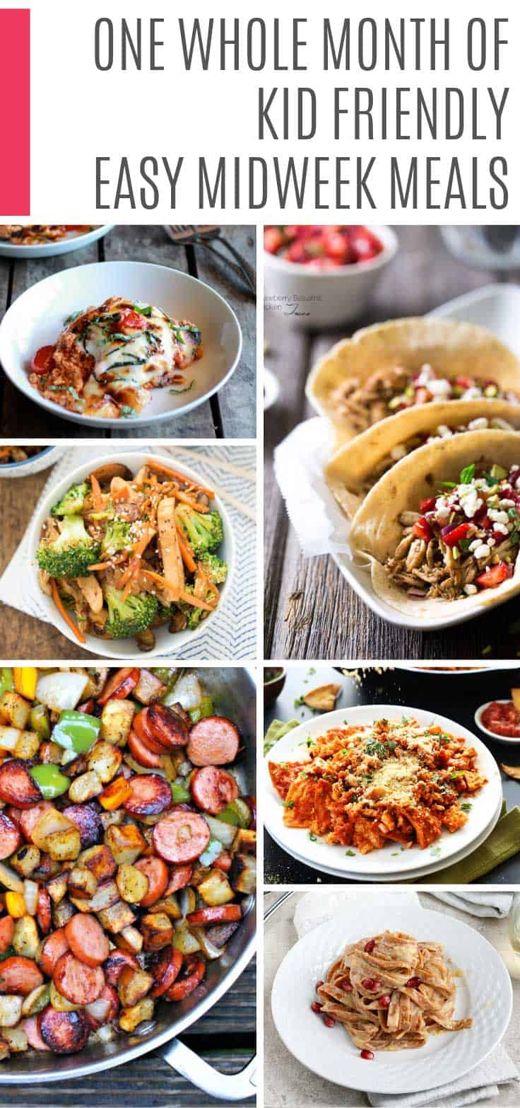 So many delicious and healthy easy midweek meals for your meal plan! You can have them on the table in under 30 minutes are the kids love them!