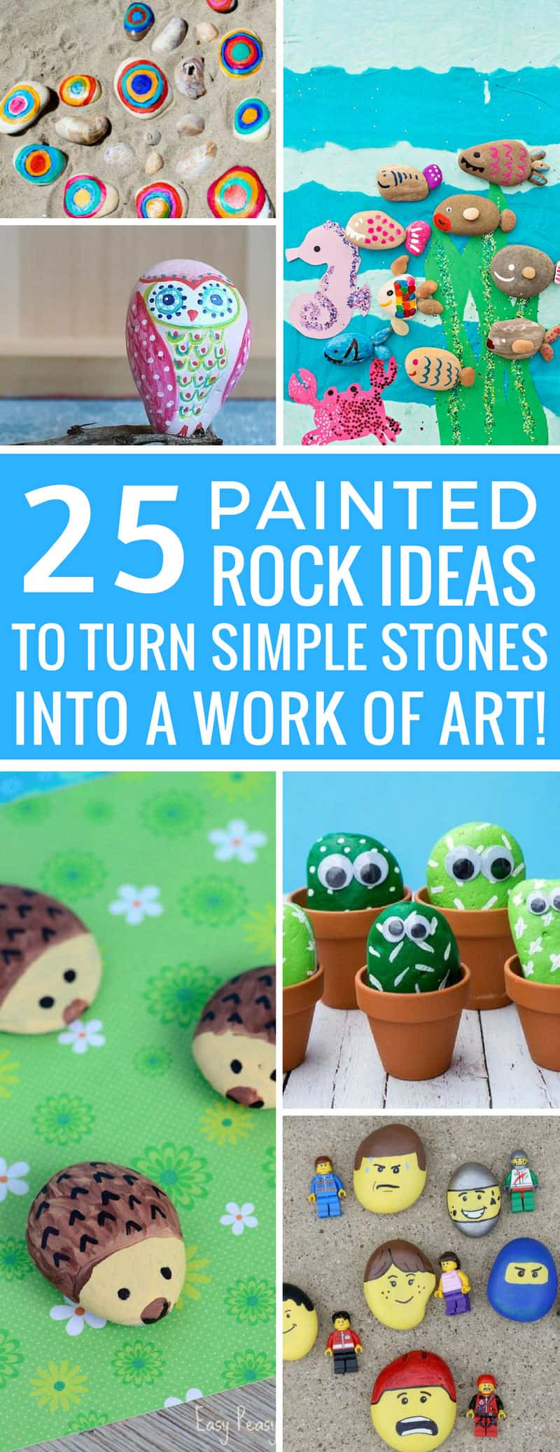 How cute are these painted rock ideas! They're easy for the kids and just what we need for our summer stone collection! Thanks for sharing!