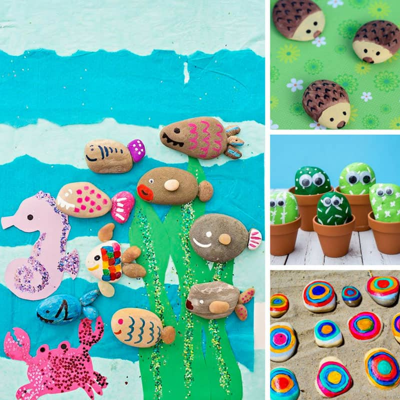 These easy painted rock ideas are just what we need for our stone collection!