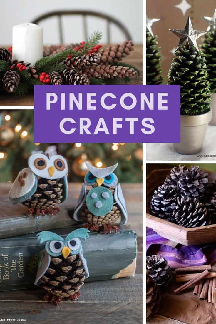 Easy Pinecone Crafts for Christmas