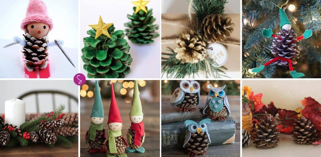 Easy Pinecone Crafts for Kids to Decorate Your Home this Christmas!