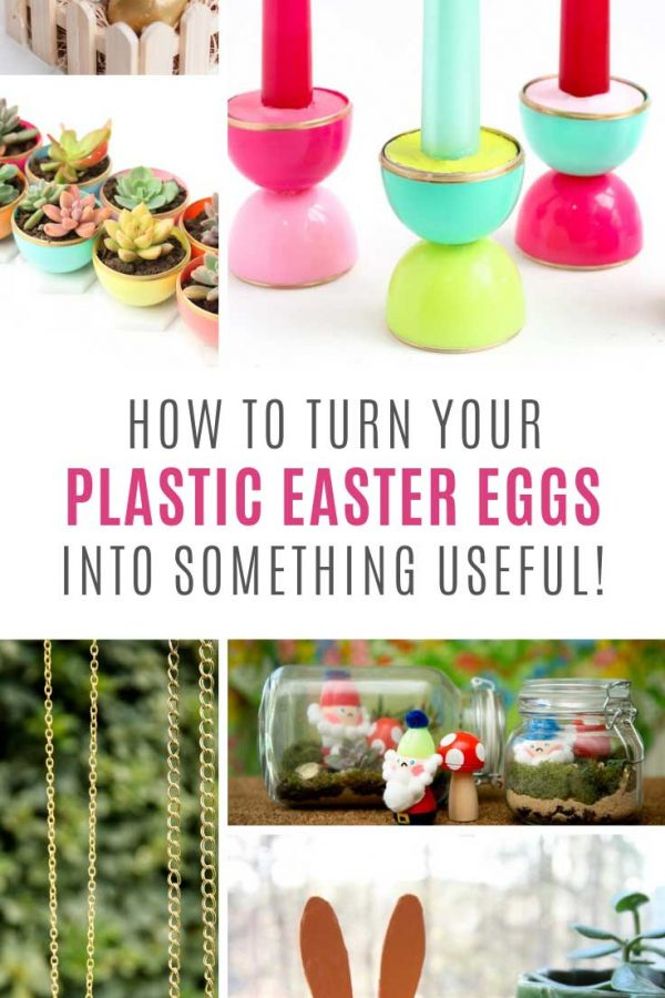 So many easy plastic easter egg crafts!