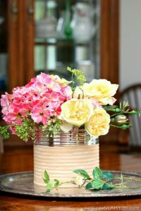 Loving this coffee can vase! Thanks for sharing!