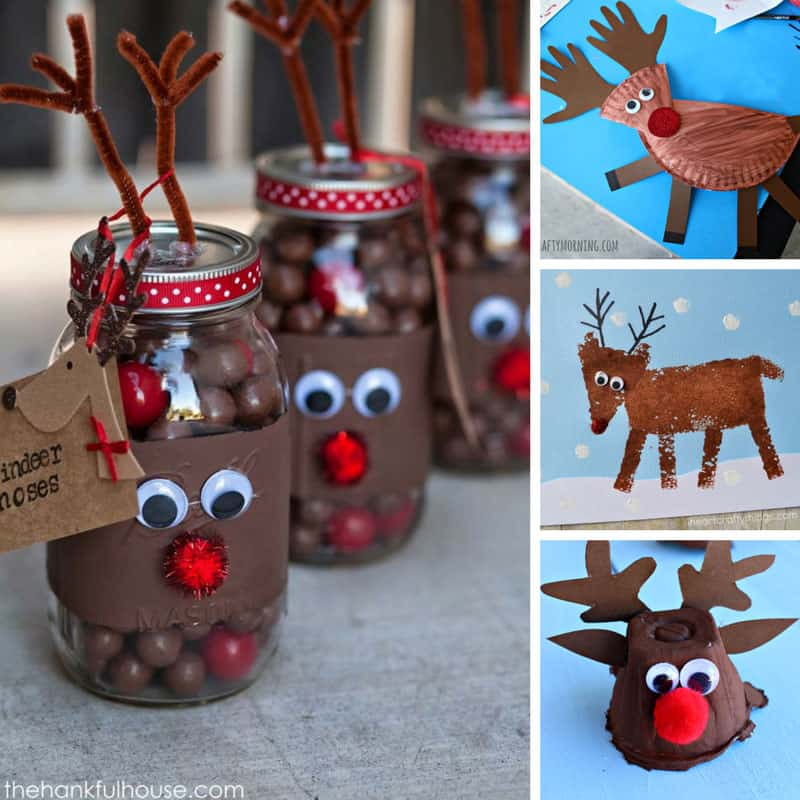 These reindeer crafts for kids are super cute -we might need to make a whole team of reindeer!